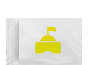 Busta bianca con un castello arancione che rappresenta la categoria dei prodotti di classici di Willchip International