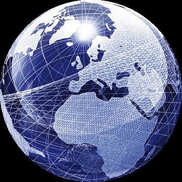 Il mondo, simbolo dell'azienda Willchip International, richiama i suoi prodotti