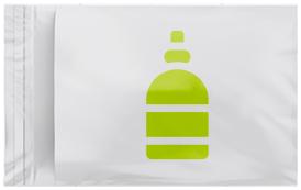 Busta bianca con foglia verde che rappresenta la categoria dei prodotti di bio di Willchip International